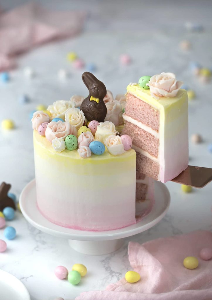 Ombre Easter Cake Chocolate Bunny Preppy Kitchen The Glam Pad
