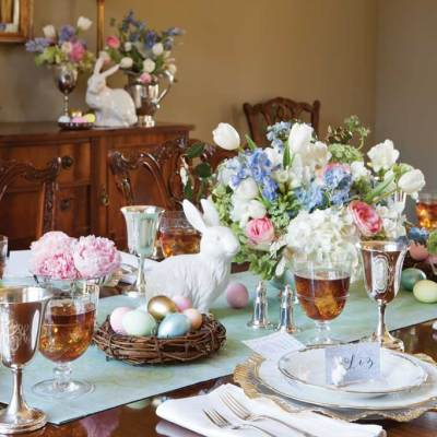 Spring and Easter Tablescape Ideas