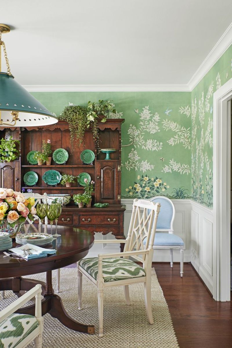 Mark D. Sikes green dining room