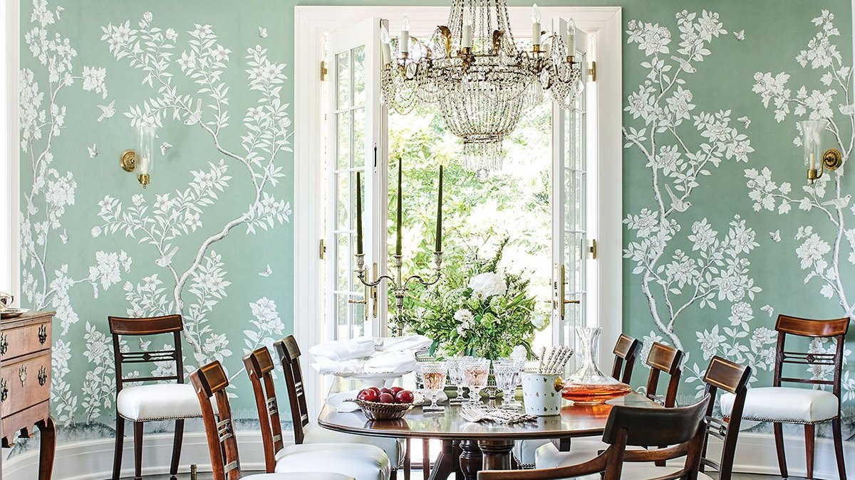 Patti B Flower Magazine Gracie Wallpaper Dining Room The