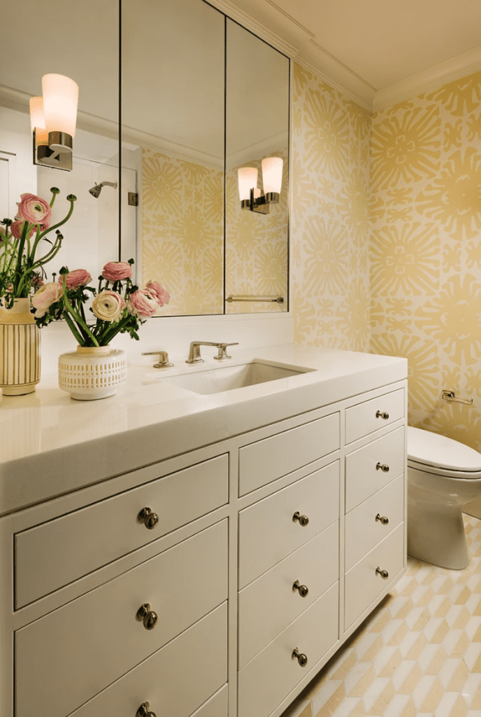 Ellen Kavanaugh Palm Beach Chic Inteior Design Bathroom