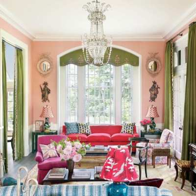 Pretty Pink Living Rooms
