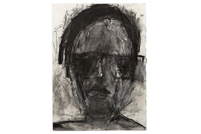 Frances Aviva Blane - Head 29: 19x29 cm, compressed charcoal on fabriano paper
