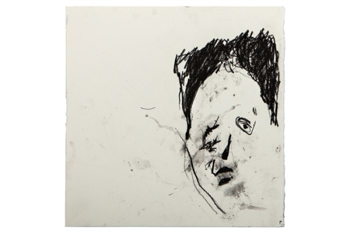 Frances Aviva Blane - Head 26: 33x33 cm, compressed charcoal on fabriano paper