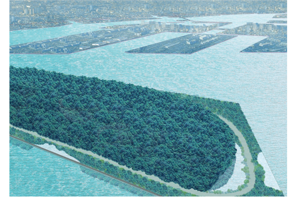 Umi-no-mori: The Sea Forest project transforms 8 hectares of a former refuse site into a green area in Tokyo Bay - Images and photographs courtesy of Tadao Ando Architect & Associates