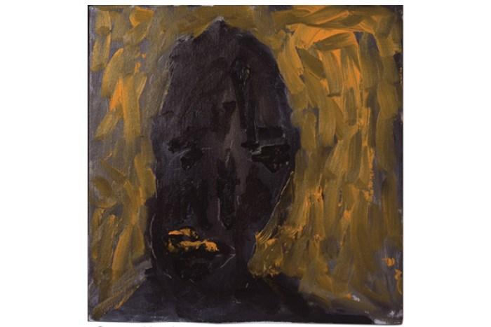 Frances Aviva Blane - Orange Head: 33x33 cm, oil on linen