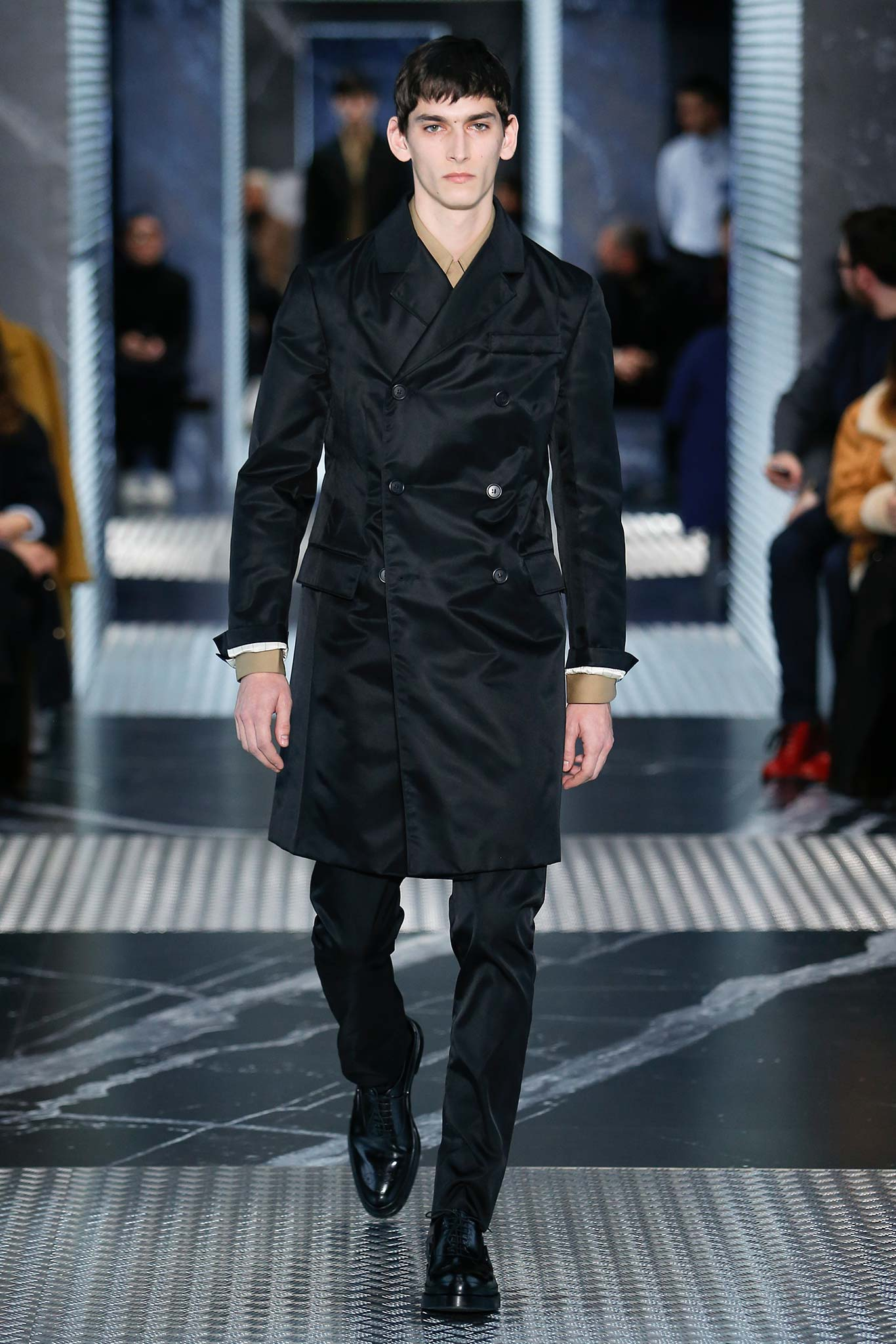 88a56358f38a Miuccia Prada unfolding the various relationships between the way men and  women can dress offered a mysterious and pleasurable show to challenge  again the ...