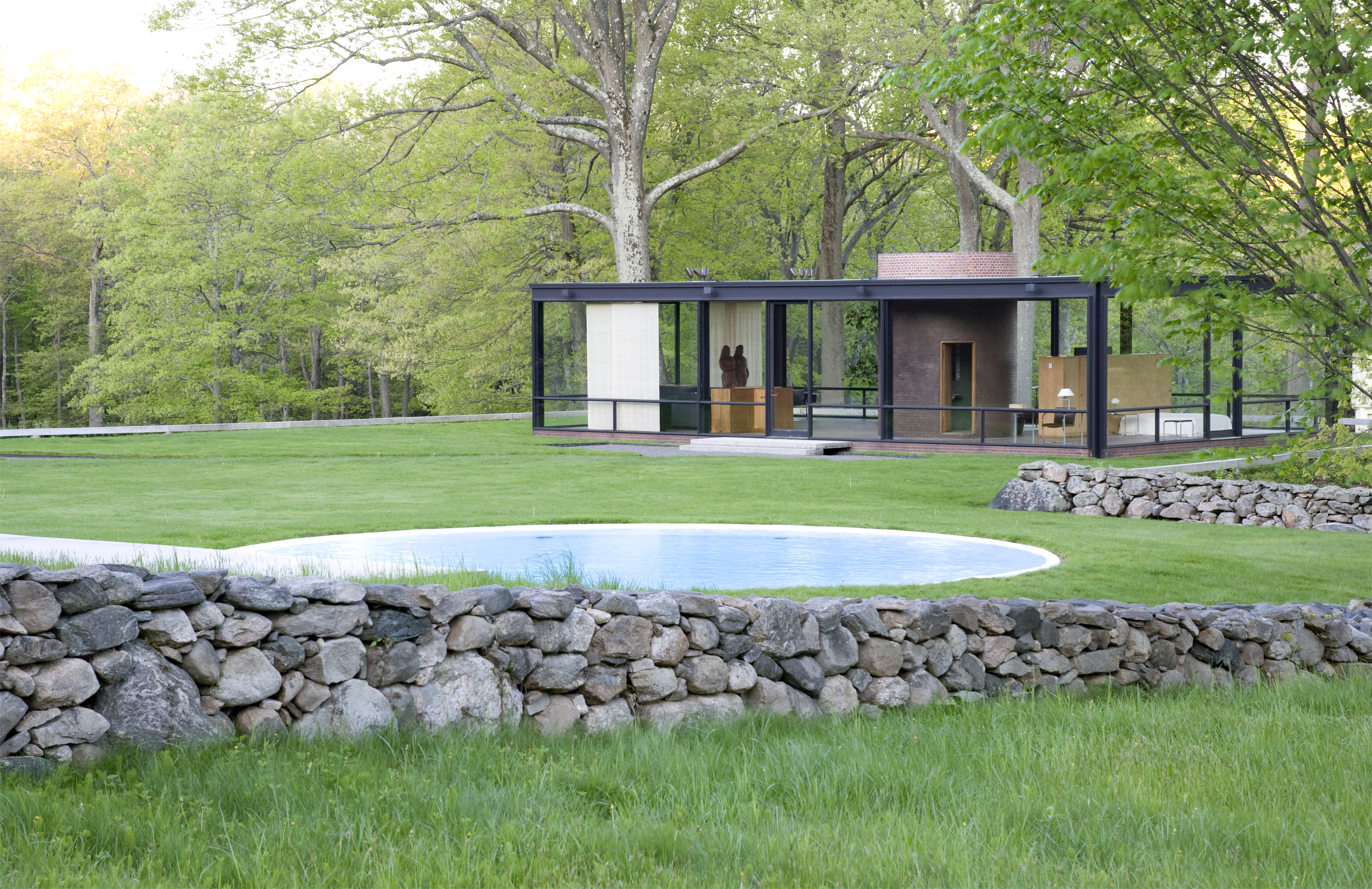 An Arcadian Vision Glass Visits Philip Johnson S Glass House