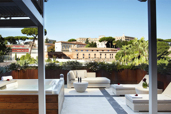 Gran Melia Rome Villa Agrippina-Suprem Room Private Terraza