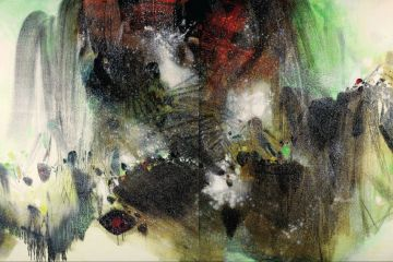Chu Teh-Chun (Zhu Dequn, B.1920), Vertige Neigeux, Painted in 1990-1999, oil on canvas, diptych, each 200 x 200 cm, overall 200 x 400 cm, The Painting was sold for HK$ 45,460,000 at Christies Hong Kong Asian Contemporary Art & Chinese 20th Century Art Sale on the 29th of November 2009, Courtesy of Christie's Images Ltd