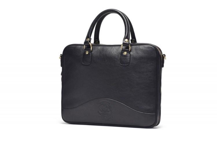 Ghurka _VintageBlack Tech bag_Front2_144