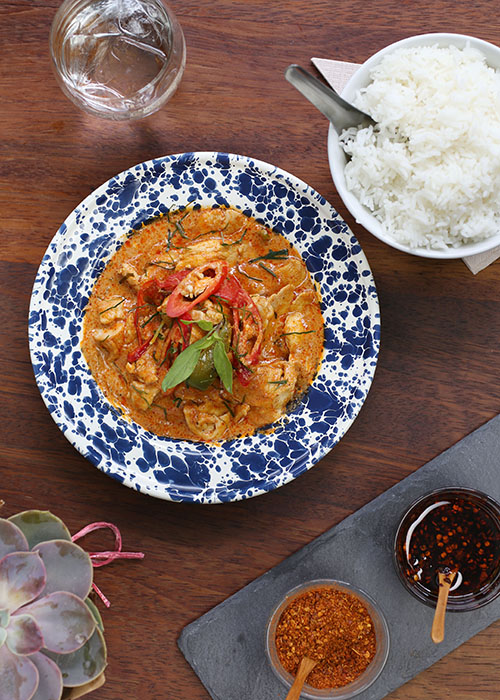 Red Thai curry at Rosas