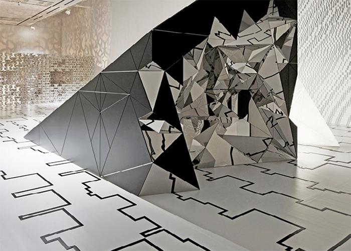 Element Exhibition, Tokyo Opera City Art Gallery. Japan. Design by Cecil Balmond 2010. Photograph by Masao Nishikawa, courtesy of Balmond Studio