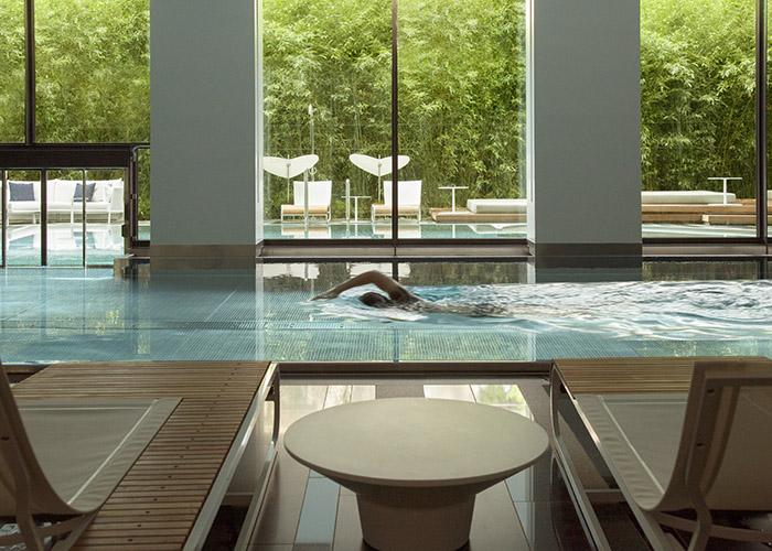 The pool at the Royal Savoy