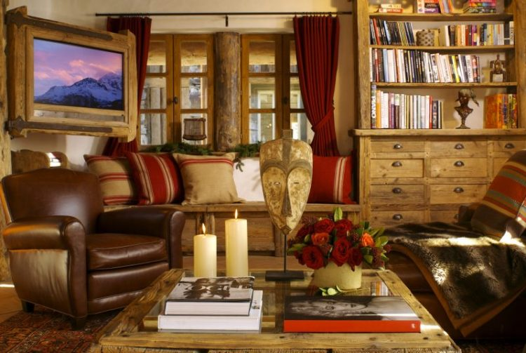 Living room at Chalet Merlo
