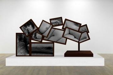 Benefit Supervisor Sleeping, 2017, corten steel, LCD screens, moving image, 132 x 265 x 80 cm by Charlotte Colbert