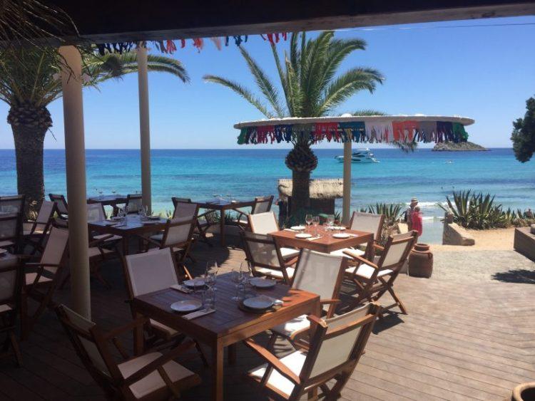 Outdoor dining at Aiyanna, Ibiza