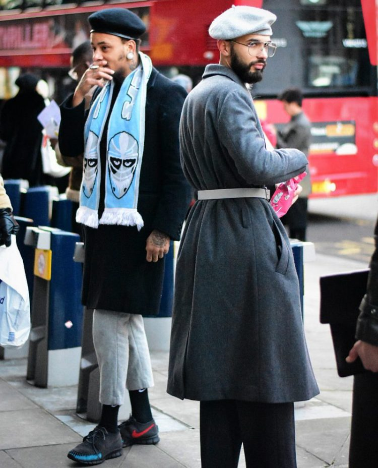 London fashion week mens street style. Photography by Liam Pearson