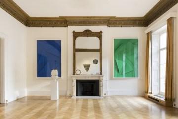 Installation View Pietro Consagra and Marine Hugonnier at the Italian Cultural Institute. Courtesy of ARTUNER