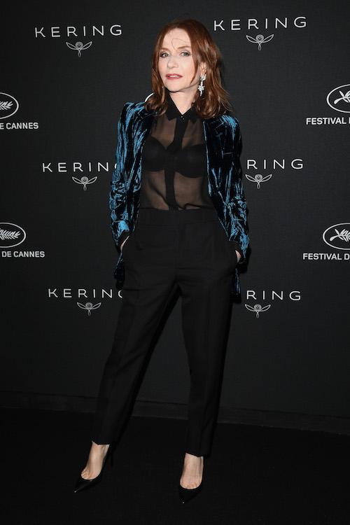 Isabelle Huppert in Saint Laurent Cannes 2018