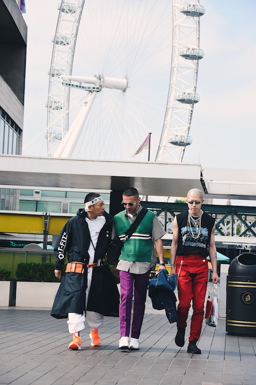 LFWM SS19 - Street Style - L to R : Kubo, Stavros Karelis, Junior