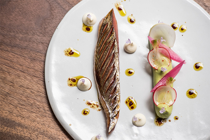 Citrus-cured mackerel at Papilles