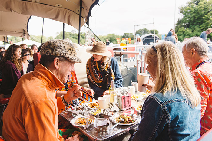 The Le Bun Diner at the Standon Calling