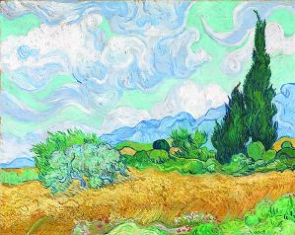 A wheatfield, with cypresses early September 1889 Saint-Rémy© The National Gallery, London