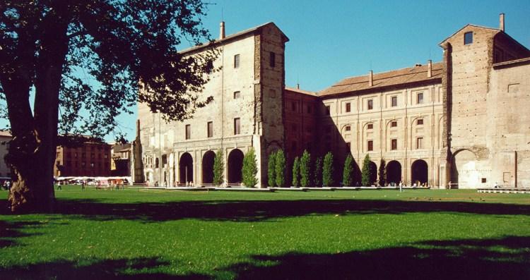 The Palazzo della Pilotta in Parma