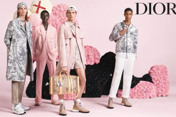 Kim Jones first Dior Men's Advertising Campaign in collaboration with Kaws