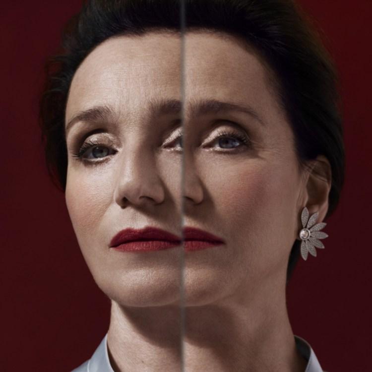 Portrait of Kristin Scott Thomas - Burberry Festive Campaign 2018