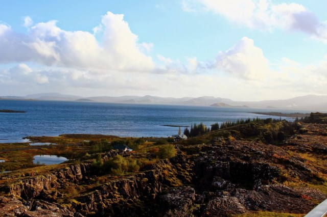 Break between North American and Eurasian tectonic plates, Thingvellir National Park, Iceland