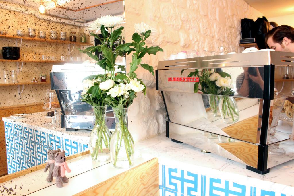 Ob La Di Paris, coffee machine and flowers