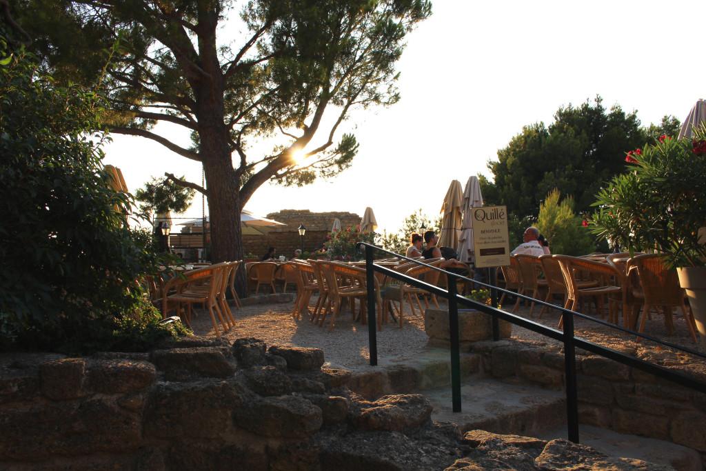 Miramas-le-Vieux, evening light over La Quille terrace