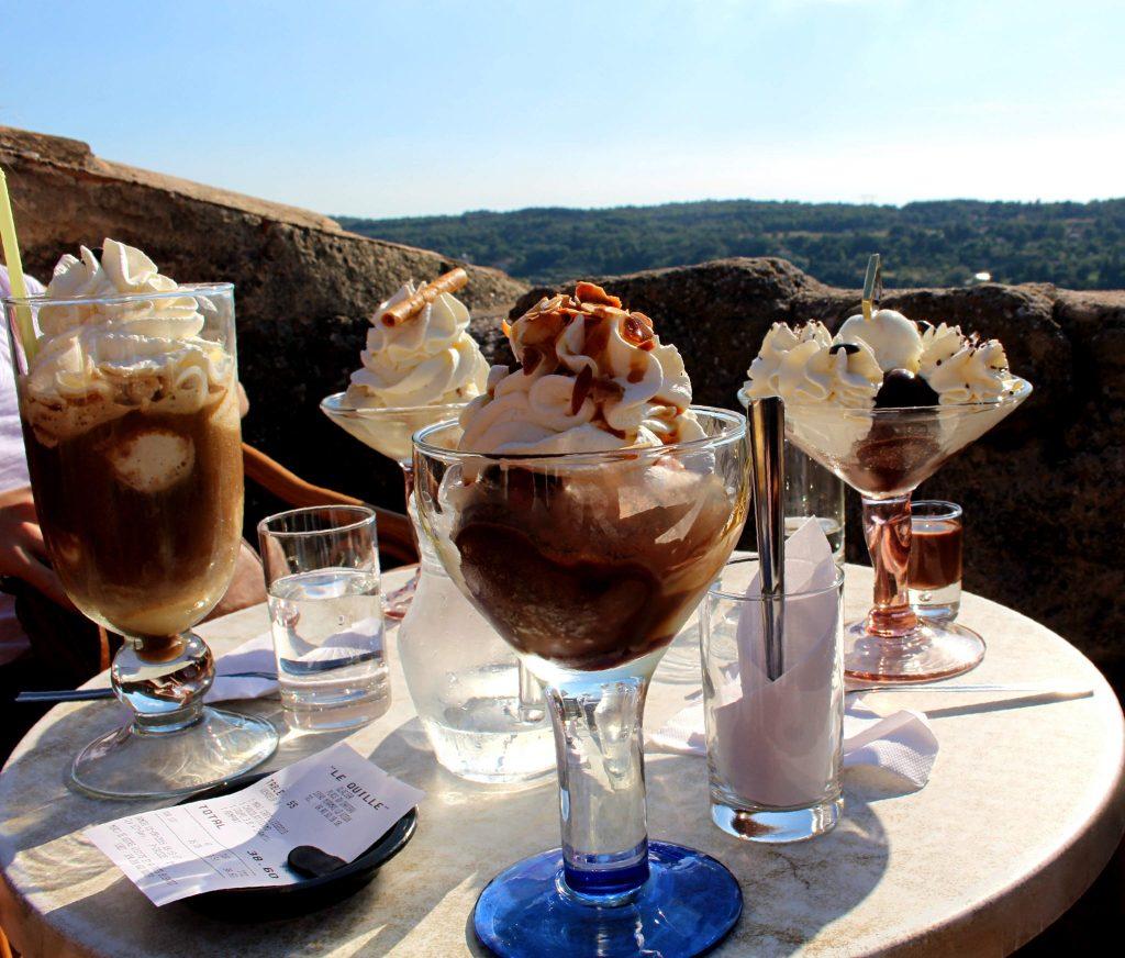 The Glittering Unknown, Miramas-le-Vieux, ice cream