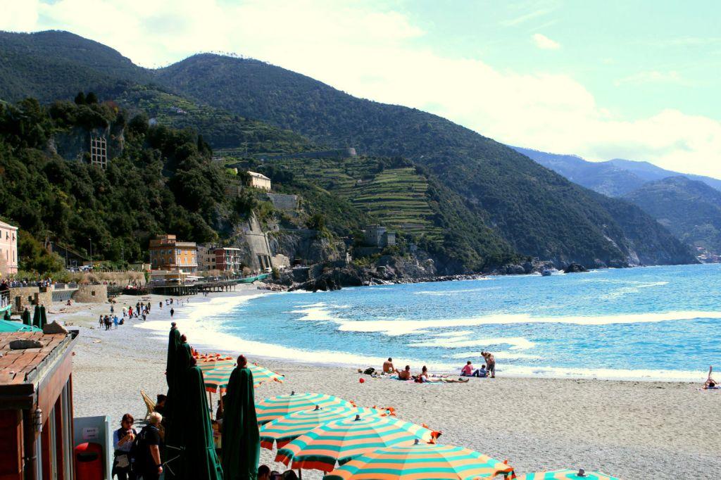 Beach Monterosso al Mare Cinque Terre Italy, Monterosso to Vernazza, The Glittering Unknown