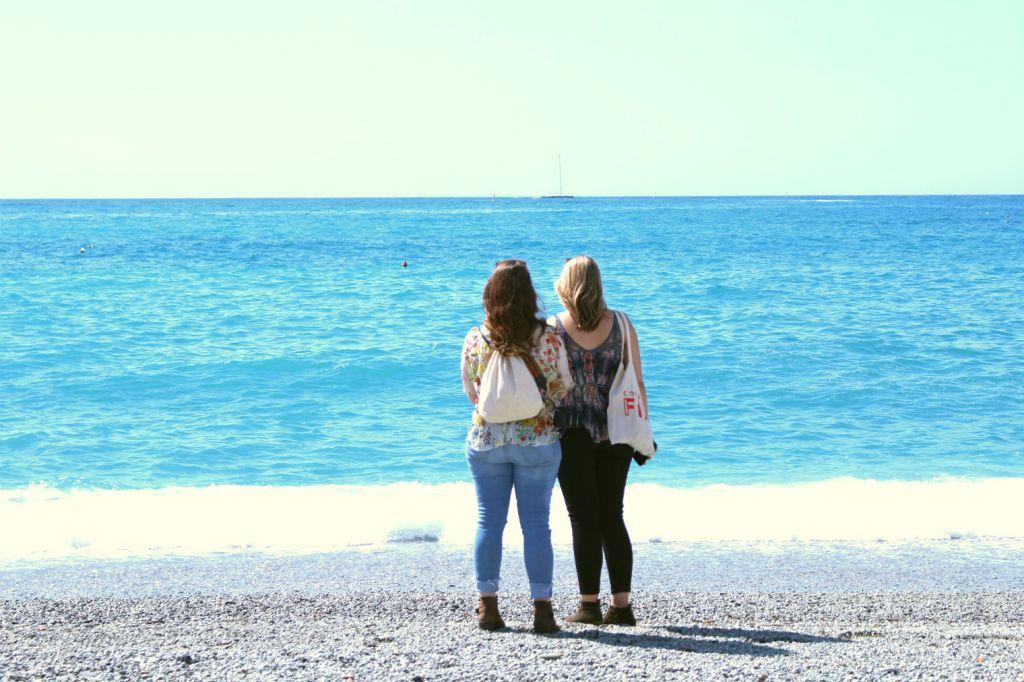 The Glittering Unknown friends on beach Monterosso al Mare Cinque Terre Italy