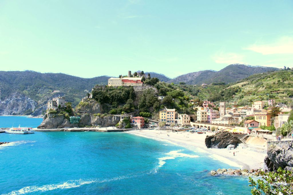 View of Monterosso al Mare from Sentiero Azzurro Cinque Terre Italy, Monterosso to Vernazza, The Glittering Unknown