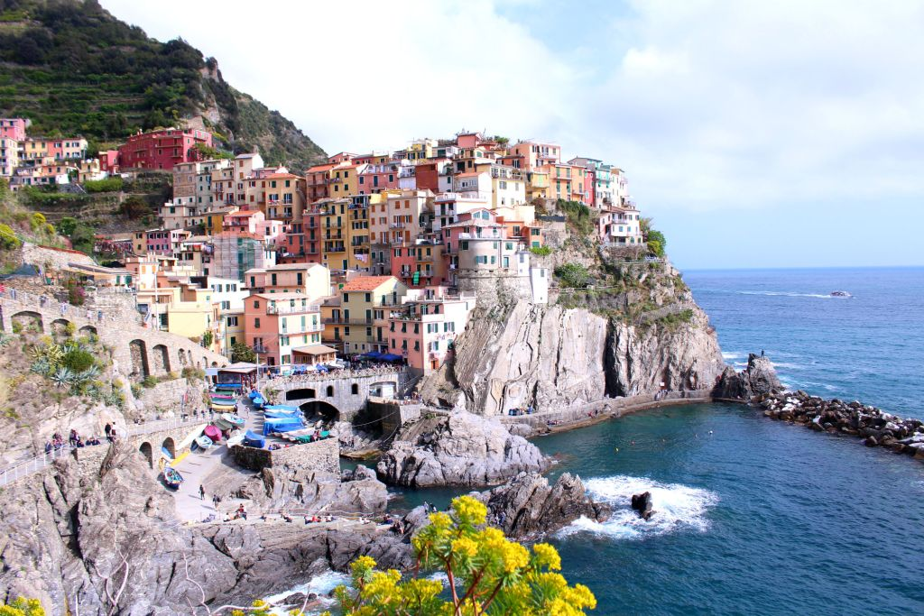 The Glittering Unknown view over Manarola Cinque Terre Italy