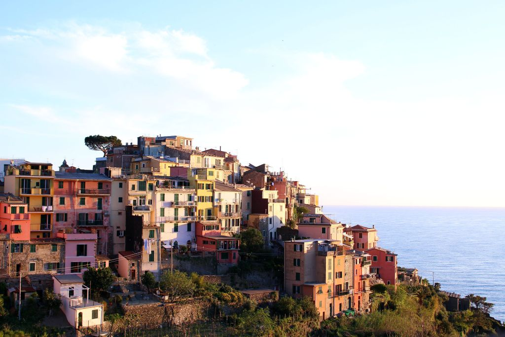 Corniglia Cinque Terre Italy at sunset The Glittering Unknown