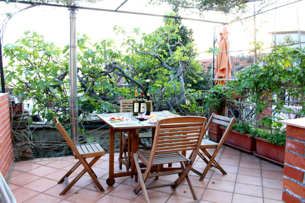 Terrace at our Airbnb, Corniglia, Cinque Terre, Italy