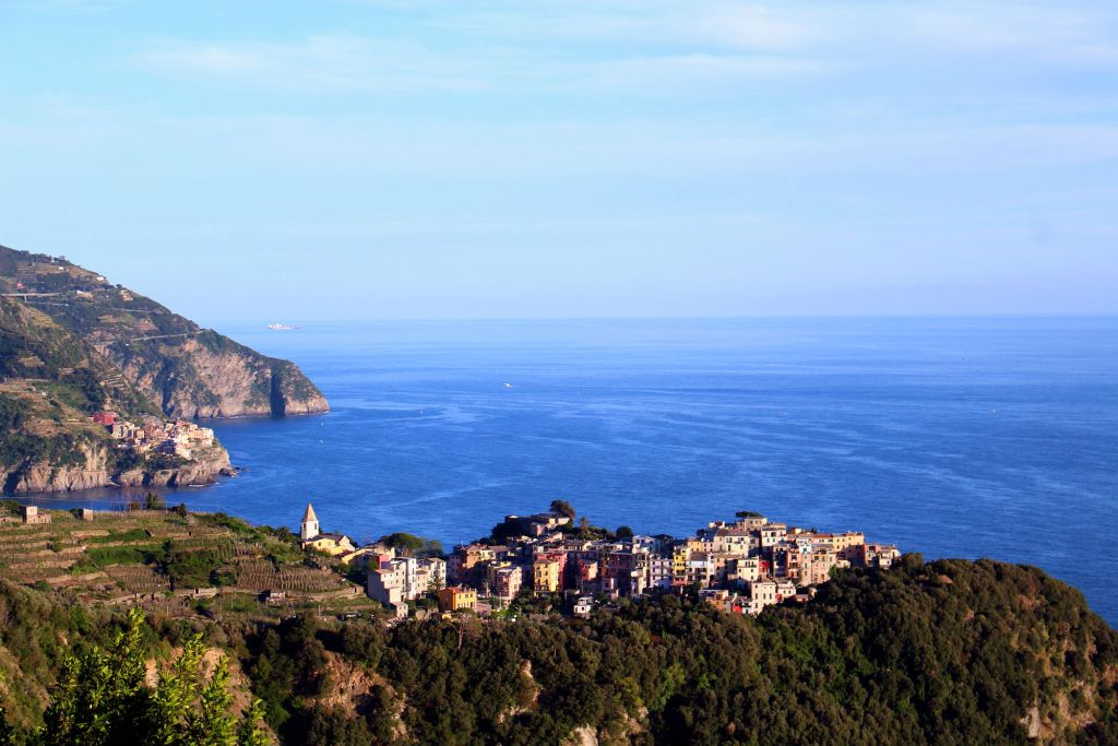 Corniglia Cinque Terre Italy view from Sentiero Azzurro The Glittering Unknown