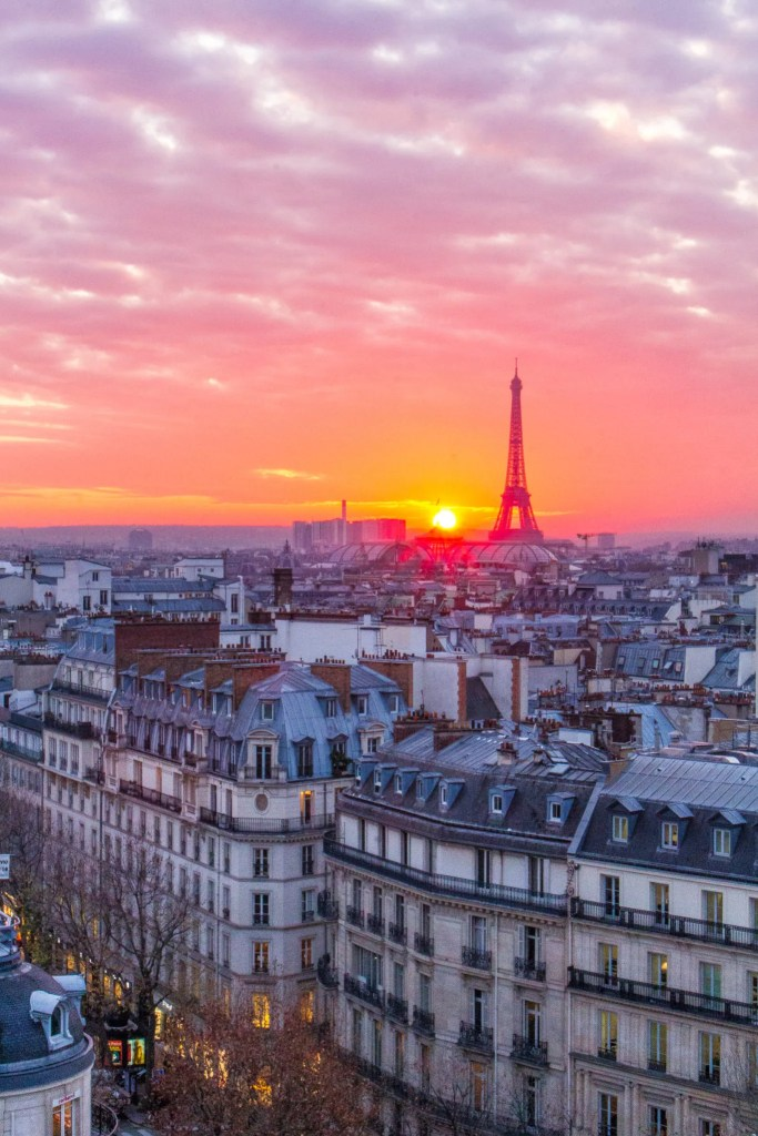 Sunset from the Terrasse du Printemps- 5 Best Sunset Spots in Paris
