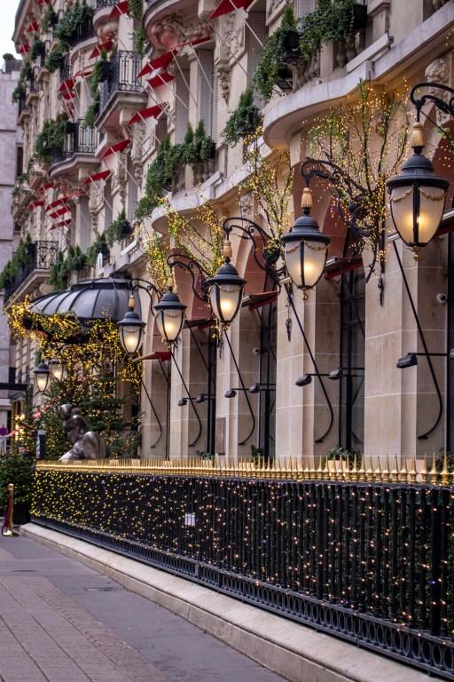 Hotel Plaza Athénée, Avenue Montaigne, Paris- Christmas Decorations in Paris