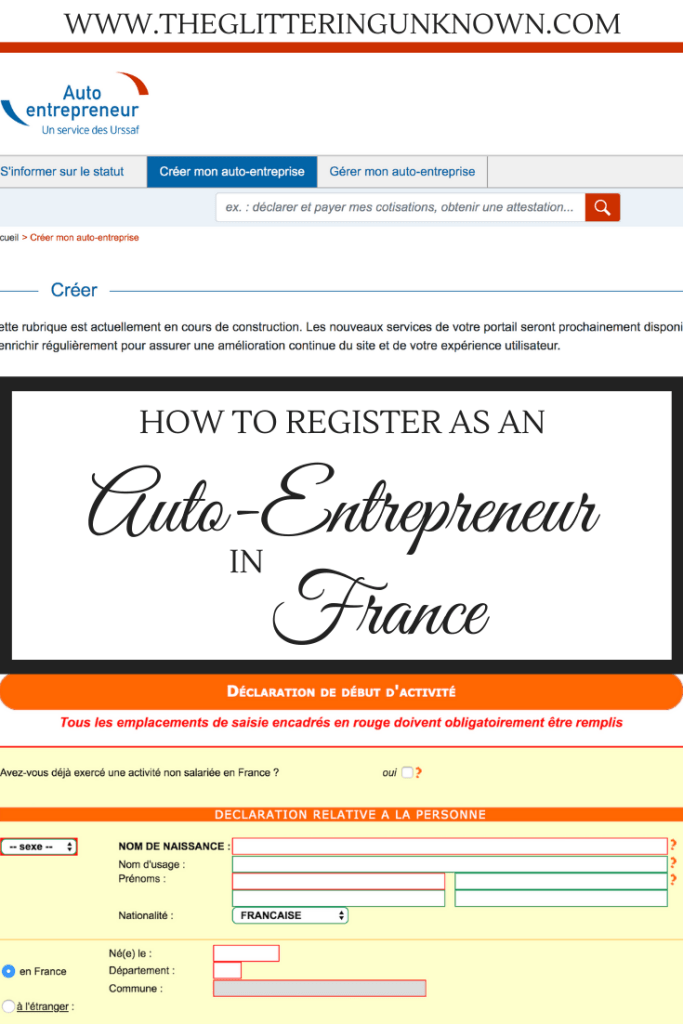 How to Register as an Auto-Entrepreneur