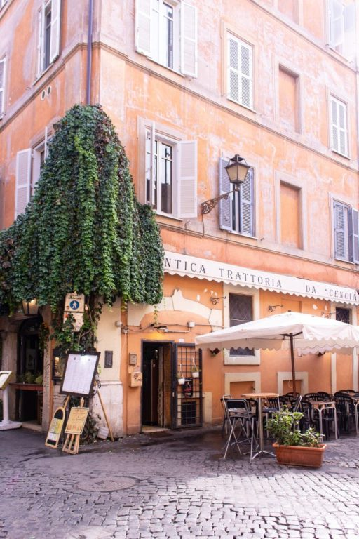Restaurant in Trastevere, Rome - PHOTO DIARIES: ROME