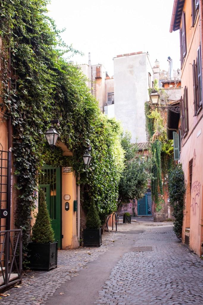 Side streets in Trastevere, Rome