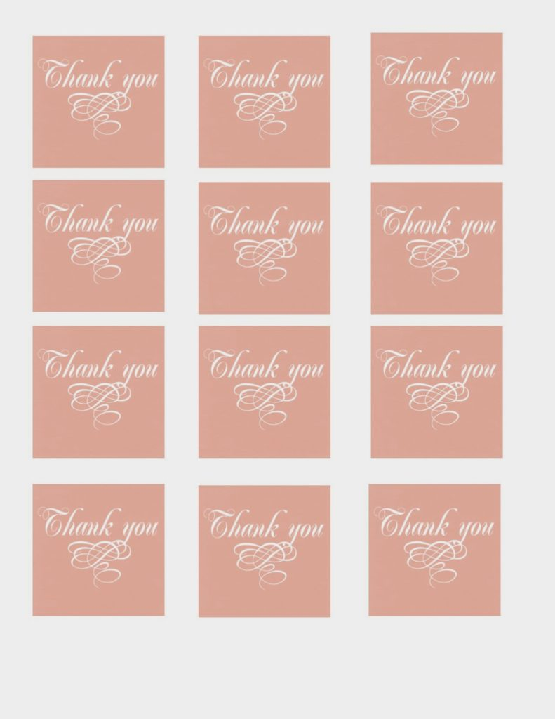 free printable thank you tags - The Glitzy Pear