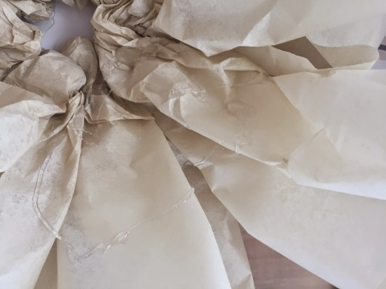how to make giant tissue paper flowers, party decor, wedding garden decor, easy tissue paper craft, tissue paper flowers,