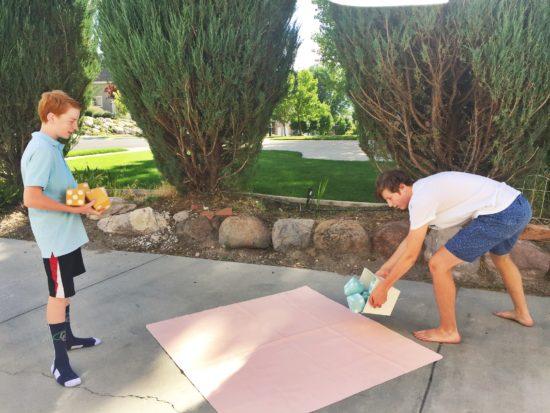 Yardzee game,  DIY your own Yahtzee lawn game, 4x4's, studio 5, the glitzy pear